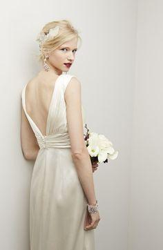 Caroline DeVillo 'Eva' Silk Charmeuse Fluted Dress (In Stores Only)   Nordstrom_$2,552
