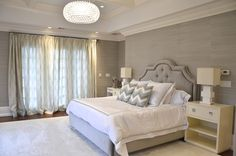 Gray Grasscloth, Contemporary, bedroom, D2 Interieurs Phillip Jeffries - Elephant
