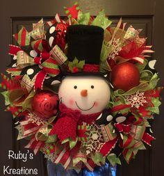 Snowman Wreath - Christmas Wreath - Christmas Decor