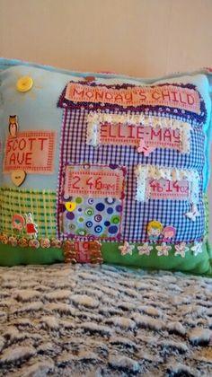 New Born Baby Girl Memory Cushion