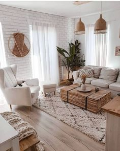 Boho Living Room, Living Room Modern, Home And Living, Living Room Designs, Living Room Interior, Stylish Living Rooms, Natural Living Rooms, Living Room Decor Ideas Apartment, Ideas For Living Room