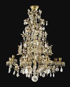 Lustre en laiton doré et cristal de roche de la fin du XIXe siècle | Lot | Sotheby's