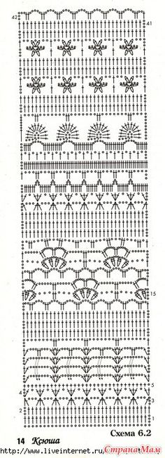 .Appears to be a Russian Crochet Blog, LOTS of Diagram patterns!