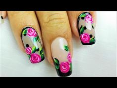 YouTube Fingernail Designs, Nail Art Designs, Make Me Up, How To Make, Nail Colors, Nails, Beauty, Roses, Jeans
