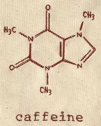 caffeine molecule - For my husband... maybe by the coffee pot or his computer.  On a mug?