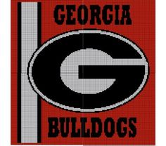 Georgia Bulldogs Crochet Pattern Afghan Graph, $5.00... Pattern now available in MS Excel Format for easier following. More patterns available soon in this easier format!!!