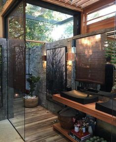 "29.5 mil Me gusta, 163 comentarios - Interior Design & Decor (@homeadore) en Instagram: ""Forest House Bathroom by David Bastos """