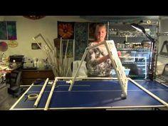 Making PVC Frame-Silk Painting Part 1 - YouTube