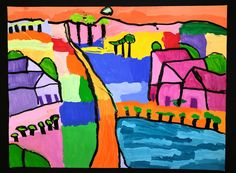 Paintbrush Rocket: 4th Grade Ton Schulten Abstract Landscapes!