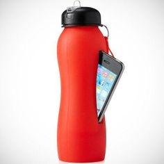 Water bottle + iPhone storage