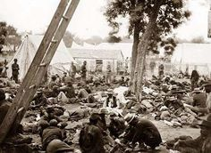 Savage Station, Virginia. Union field hospital after the battle of June 27. It was created in 1862
