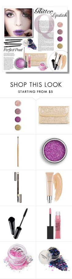 """""""So Sparkly: Purple Glitter Lips"""" by lady-of-rose ❤ liked on Polyvore featuring beauty, Terre Mère, Ashley Stewart, Clarins, Christian Dior, Shiseido, Maybelline, In Your Dreams and glitterlips"""