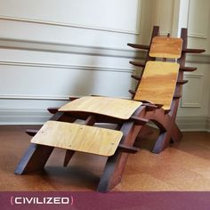 Pagoda Modern Lounge Chair by civilized