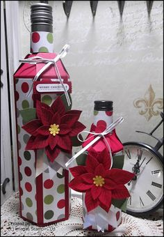 When I watched the video by Linda Parker on how to make these amazing wine bottle sleeves I just had to try it.  You can see Linda's video's...