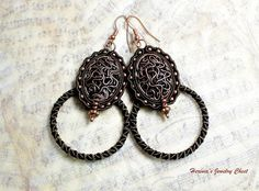Boho Earrings Boho Jewelry Ethnic Earrings Hoop by Herinia on Etsy, $35.00