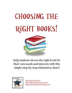 FREE Many students have a difficult time choosing books they actually want to read.  I developed this guide to lead students through choosing a book tha...