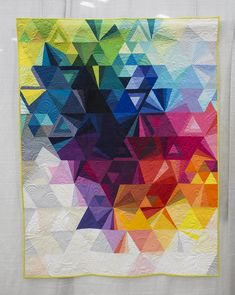 Tessellation 3 by Nydia Kennley.  QuiltCon 2015.  Photo by Fresh Lemons Quilts.