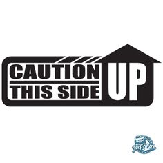 Caution This Side Up Jeep Decal - It's a JeepShirt