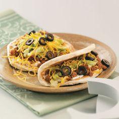 Flatbread Tacos with Ranch Sour Cream Recipe