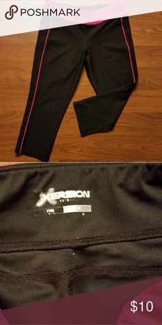 526ddf98159 Crop Leggings Crop yoga leggings. Pink and black. In excellent condition!  Xersion Pants