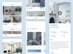 Hi,   Today i'd like to share a few screens from my latest real estate app concept. The clients aren't very fond of the design so i hope you guys would like it better. :)  Happy dribbbling.