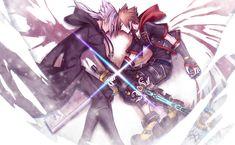 Xehanort and Sora Sora Kingdom Hearts 3, Boy Squad, Kindom Hearts, Illustrations And Posters, Magical Girl, Disney Art, Final Fantasy, My Images, Character Design