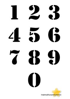 Numbers with black background Large numbers to print- Numeros con fondo en negro Numeros grandes para imprimir Numbers with black background Large numbers to print - Vintage Typography, Typography Fonts, Number Fonts, Graffiti Tattoo, Alphabet Symbols, Number Stencils, Printable Letters, Carving Designs, Scroll Saw Patterns