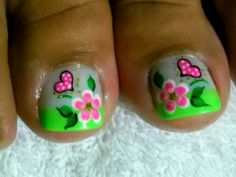 Modern Nail Art Designs that Are Too Cute to Resist Cute Toe Nails, Cute Nail Art, Pretty Nails, My Nails, Manicure, Pedicure Nail Art, Pedicure Designs, Toe Nail Designs, Feet Nail Design