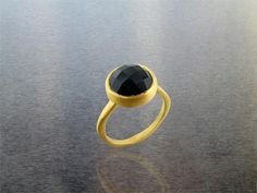Kyle Chan Design black and gold onyx ring