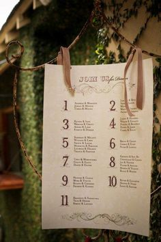 Bryan & Chane's Beautiful Morrells Wedding's seating plan poster - Canvas Stationery Boutique