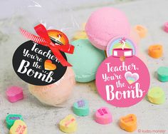 printable Teacher Appreciation Week bath bomb gift tag INSTANT Download printable file from Kudzu Monster