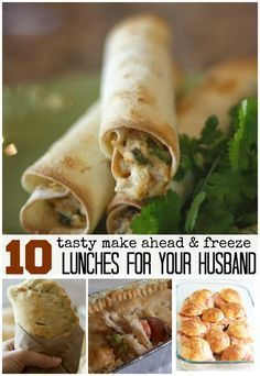 I love saving money and time with great ideas for my husbands lunches. I sometimes make these for myself too. One morning I can cook up a bunch of these make ahead and freeze lunches, then microwave them at work. Genius!-happymoneysaver.com