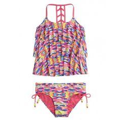 Tie Dye Tankini Swimsuit ($6.99) ❤ liked on Polyvore featuring swimwear