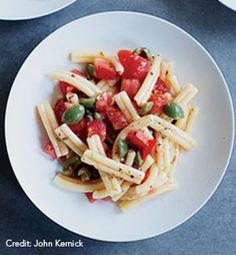 Pasta with Fresh Puttanesca Sauce