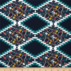 Art Gallery Recollection Rhombi Interleaved Smalt  from @fabricdotcom  Designed by Katarina Roccella for Art Gallery Fabrics, this cotton print is perfect for quilting, apparel and home decor accents.  Colors include teal, navy, white, gold and hot pink. Art Gallery Fabric features 200 thread count of finely woven cotton.