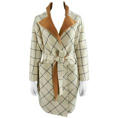 Louis vuitton Fall 2014 Reversible Ivory and Caramel Wool Coat   From a…