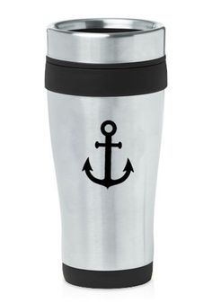 Stainless-Steel-Insulated-16oz-Travel-Mug-Coffee-Cup-Anchor
