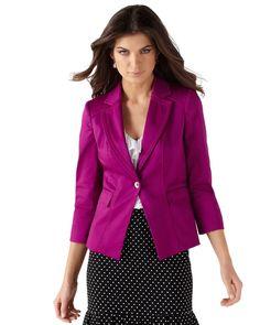 Berry 3/4-Sleeve Blazer