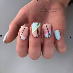 Beautiful Square Nails Design Ideas You'll Want To Copy Immediately – Pa. - Beautiful Square Nails Design Ideas You'll Want To Copy Immediately – Page 4 – Cocopipi - Square Nail Designs, Acrylic Nail Designs, Nail Art Designs, Nails Design, Short Nail Designs, Shellac Nail Designs, Diy Nails, Cute Nails, Pretty Nails