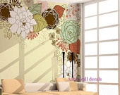 Peony------Vinyl Wall Decal Sticker Nature Design Tree Wall Decals Wall stickers Nursery wall decal chrildren's wall decals