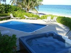 Bahamas Abaco $3500/wk outdoor space with pool and hot tub, right on ocean with beach.  House is beachy-rustic with open doors.    Castle Rock, Private Beachfront House with Pool & Hot TubVacation Rental in Treasure Cay from @HomeAway! #vacation #rental #travel #homeaway