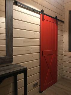 Амбарная дверь из сосны. Амбарные механизмы собственного производства
