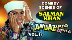 He is now every youngster's hero #SalmanKhan after his back-to-back hits, lets see comedy scenes of his from #AndazApnaApna