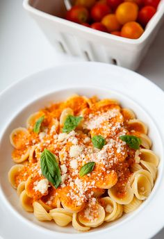Orrecchiette with fresh tomato sauce