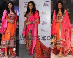 Indian Dresses: Sushmita Sen Heavy Work Salwar