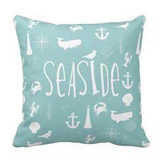 "LANYE Nautical Seaside Decorative Throw Pillow Cover Cushion Case 18"" Cushion Case http://www.amazon.com/dp/B014SPXMPC/ref=cm_sw_r_pi_dp_DByjwb0KAY1B1"