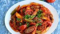 Köfte- Turkiska biffar med paprikasås och tarator - ZEINAS KITCHEN Beef, Food, Bulgur, Red Peppers, Meat, Ox, Ground Beef, Meals, Steak