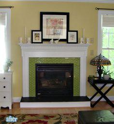 Better After Fire Fox Love The Gl Tiles Around Fireplace Box
