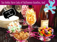 A Festive Halloween Snack and Candy Table