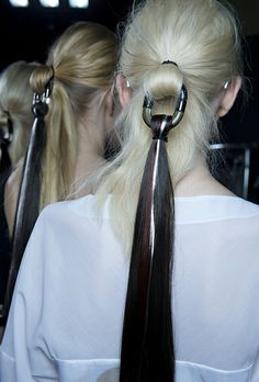 Eugene Souleiman hair look for Missoni SS 14